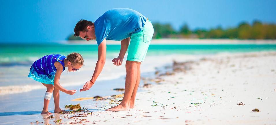 vacanze al mare con papà