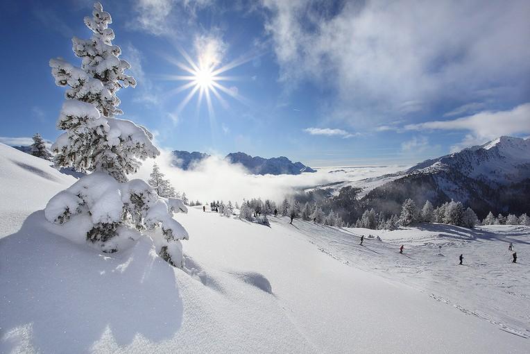 sciare nelle Dolomiti con i bambini